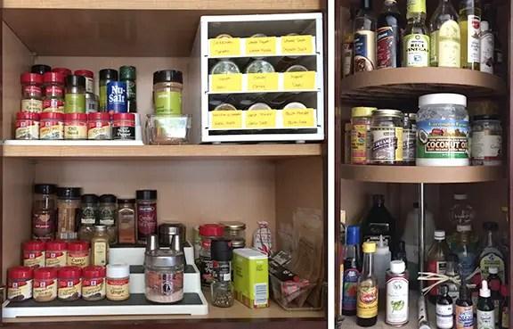 Kitchen Cupboards #spices #organization