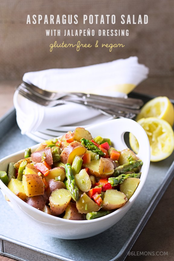 Asparagus Potato Salad with Jalapeño Dressing