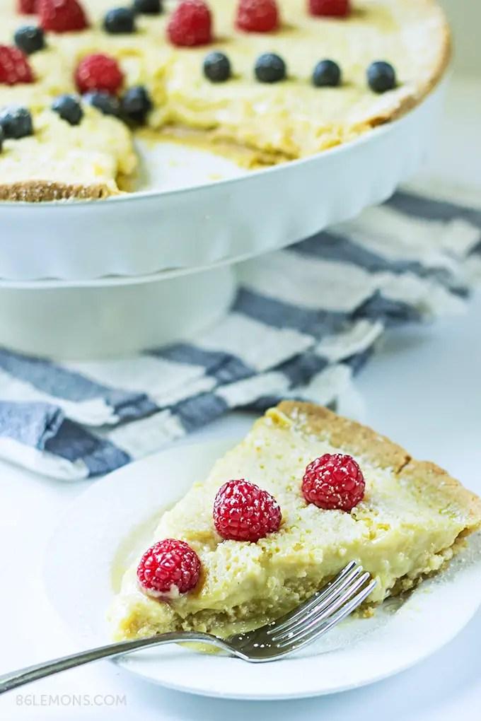 dairy free lemon tart recipe