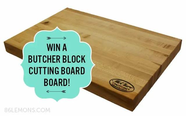 Butcher Block Giveaway from McClure Tables @ 86lemons.com