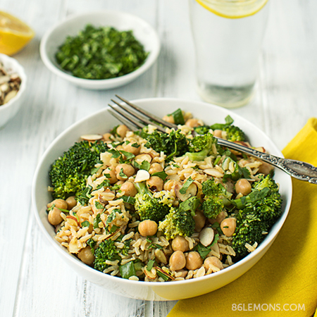 Broccoli & Chickpea Rice Bowl (v/gf)