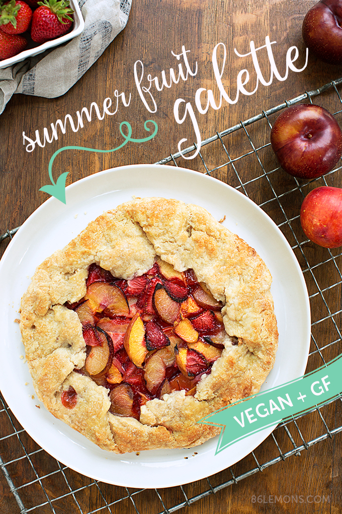 Summer Fruit Galette (vegan, gluten-free) 03