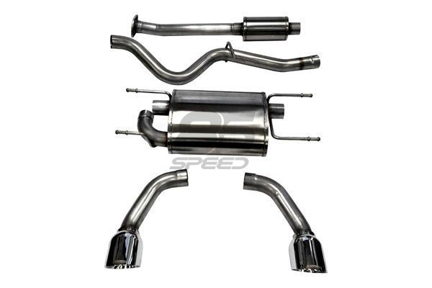 corsa 2 5 sport cat back exhaust stainless steel tips frs brz 86 14864