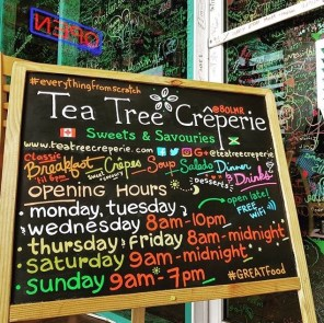 Crepes, in Jamaica, 876Lover, Tea Tree Creperie, Breakfast and brunch Restaurant, Dinner at Tea Tree Creperie, crepe restaurant,