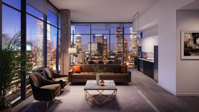 The Downtown La Apartments Feature Sophisticated Loft Like Finishes