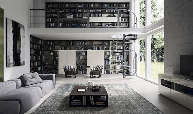 Living Room Designs For Book Lovers