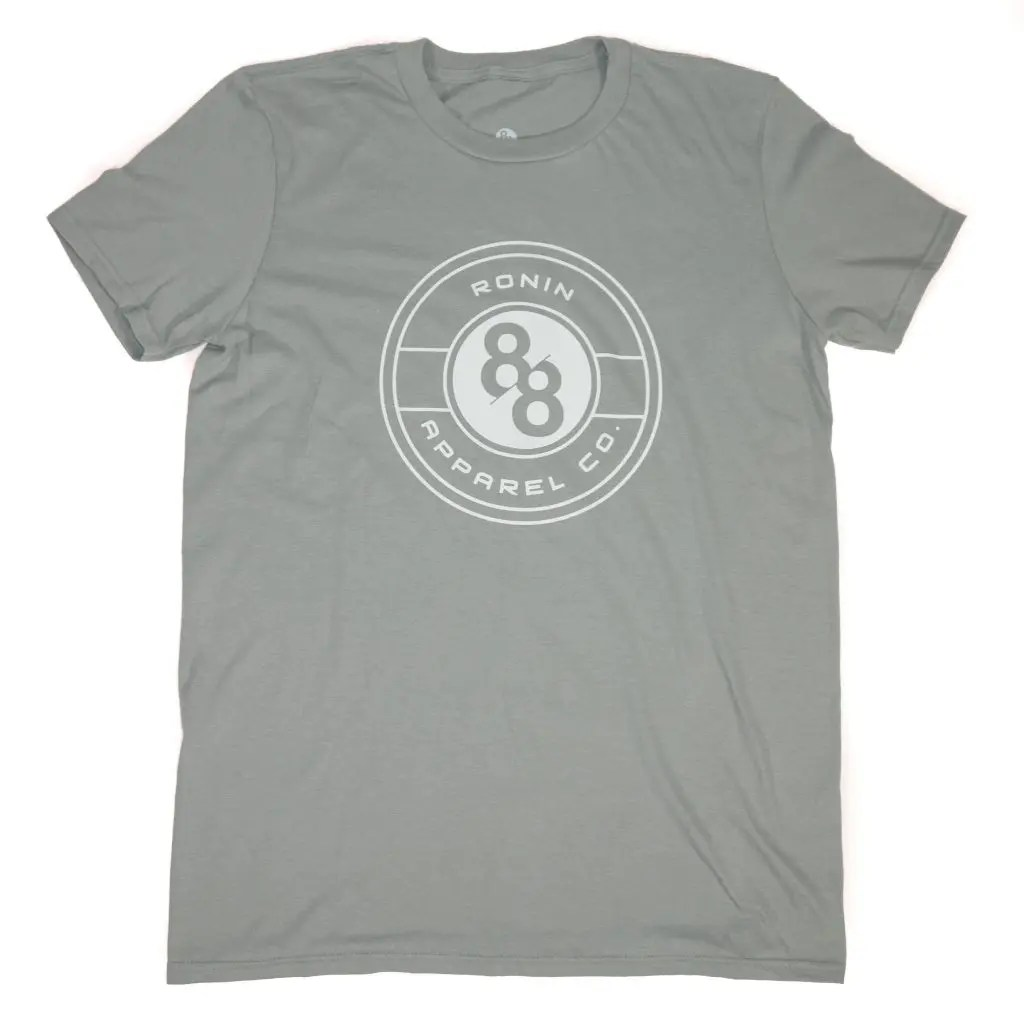 Mens Cotton Tee Shirt with 88Ronin Apparel Co. Crest