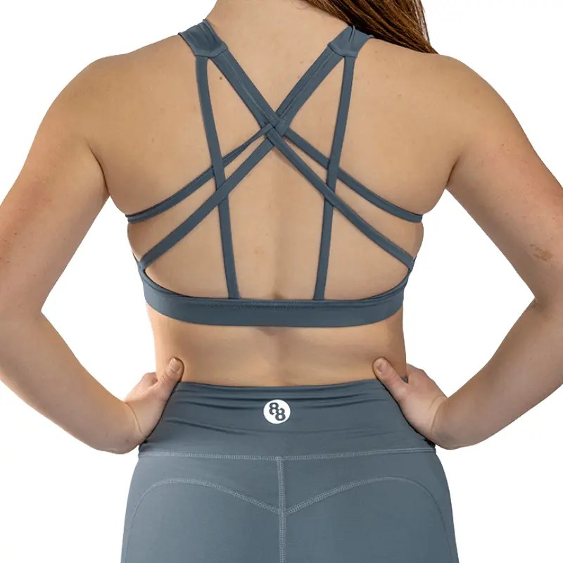 Release Edition Grey sports bra back