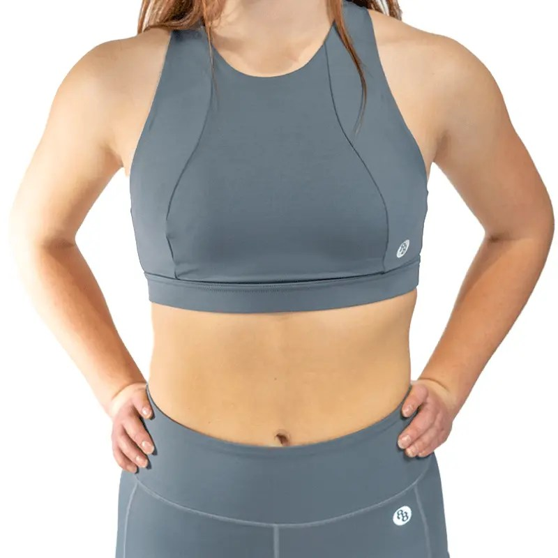 Release Edition Grey sports bra front