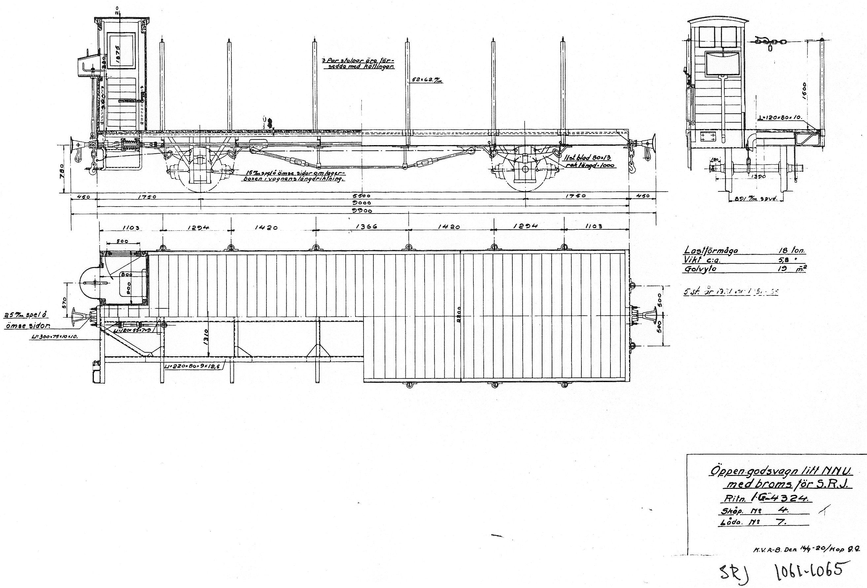 891mm Wagon Drawings