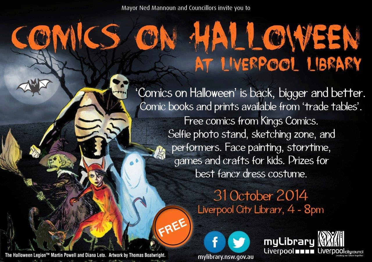 Liverpool library comics halloween