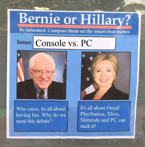 BernieorHiliaryConsole