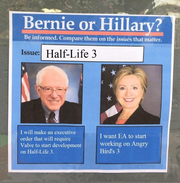 BernieorHiliaryonHalfLife3