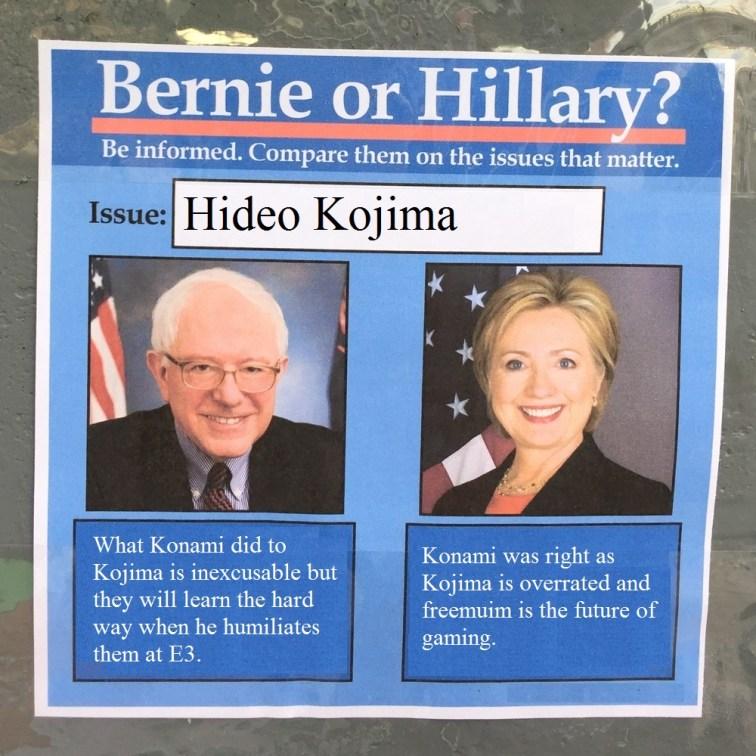 BernieorHiliaryonKojima