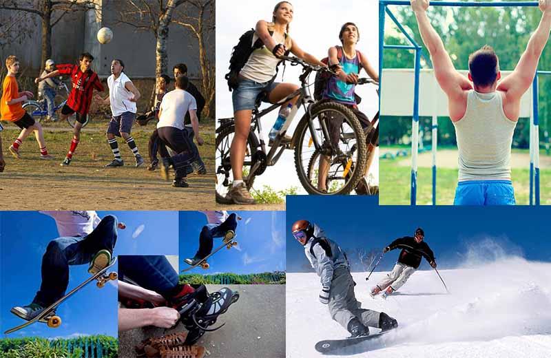 Самые популярные виды спорта для молодёжи