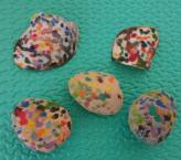 Her painted rocks & shells