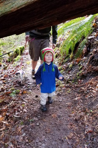 """Tunnels"" are one of his favorite hike features"