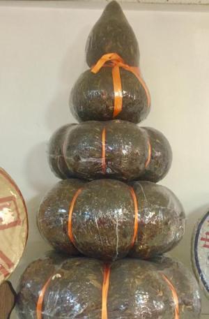 Puer Tea 布朗山 大樹茶 四層塔形壺蘆金瓜