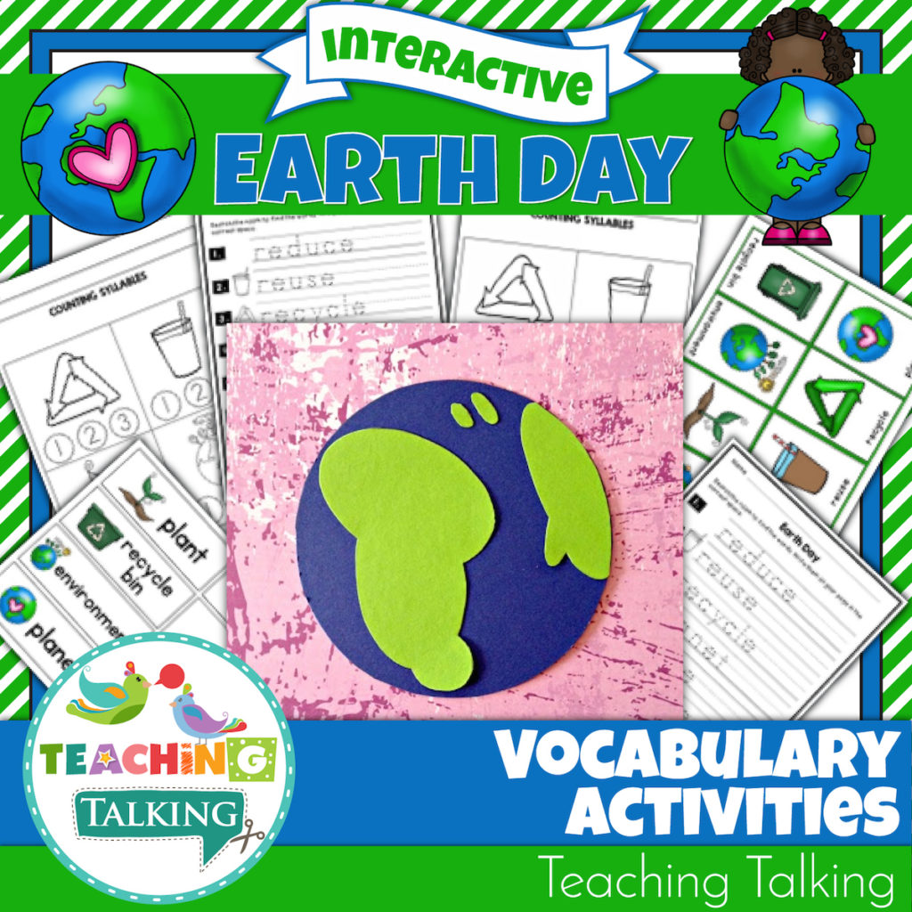 Earth Day Vocabulary Activities For Speech Therapy