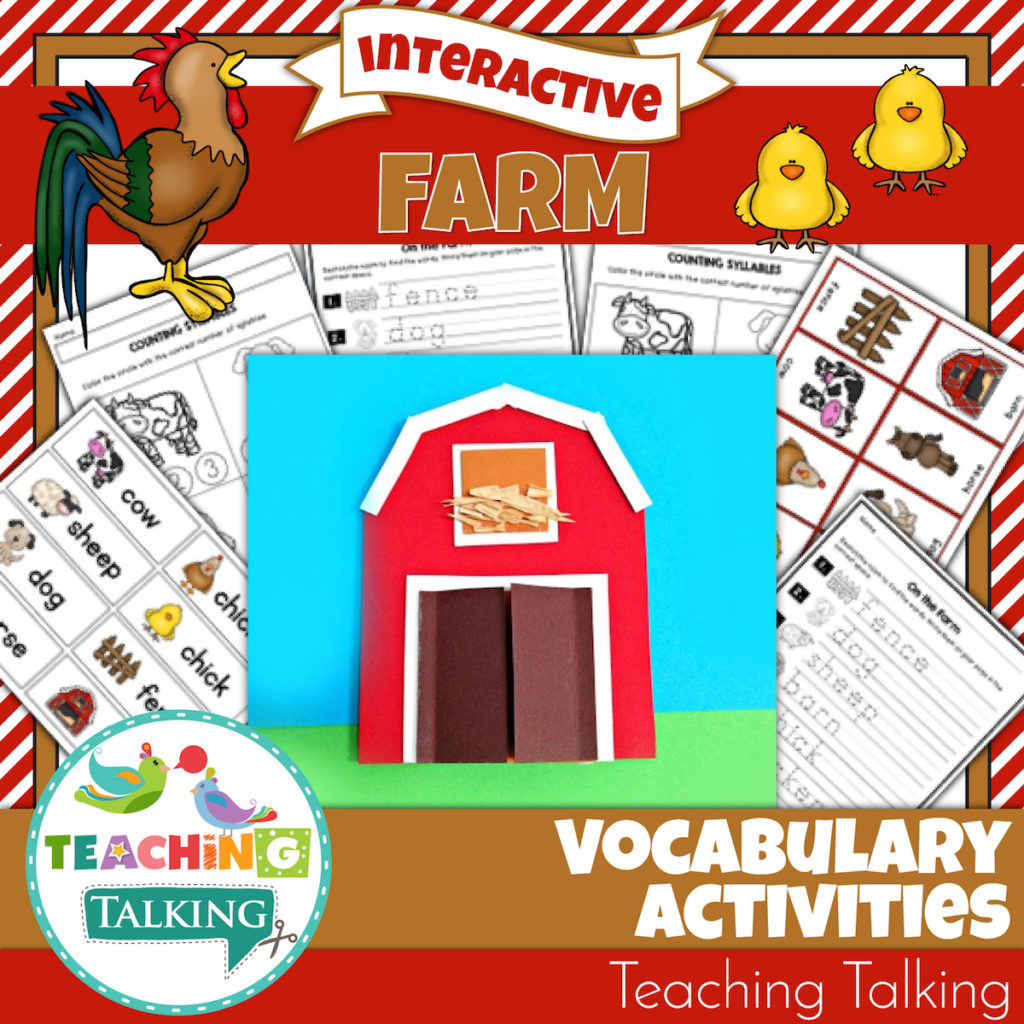 Farm Vocabulary Activities For Speech And Language Therapy