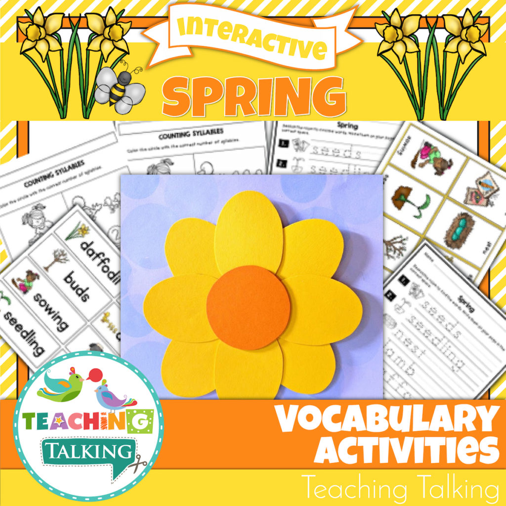 Spring Vocabulary Activities For Speech Therapists
