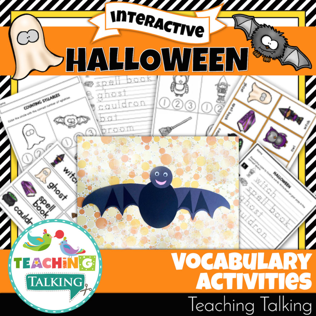 Halloween Vocabulary Activities For Speech Therapists