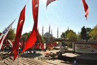 FLAGS OVER MOSQUE