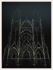 cathedral sketch le corbusier projection 3D reims