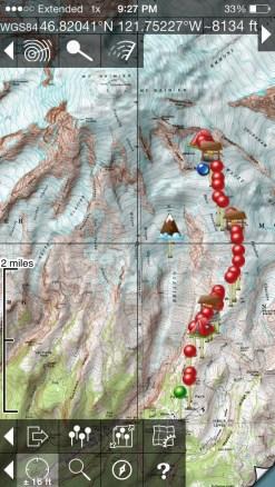 29 waypoints to Camp Muir!