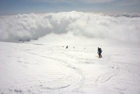 Yeah, it was like skiing in heaven (if heaven had sun-crusted crud)