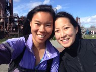 Tina and I at Gasworks park in Fremont
