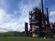 Old coal gassification plant at Gasworks parks