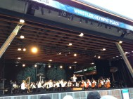 The Vancouver Symphony Orchestra giving a free concert in Whistler. Theme of the night? American composers! Happy 4th of July!