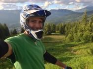 Downhill biking at the Whistler Bike Park