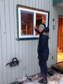 Window installation in -10C required lots of adhesive primer...