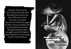Collapse the Heavens | Black Out Poetry | Anna Lete, N., AJD, Ryan King