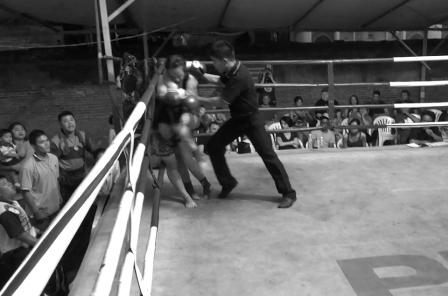 Muay Thai Knee Knockout - Sylvie von Duuglas-Ittu