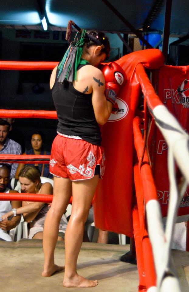 Sylvie in Red - Ram Muay