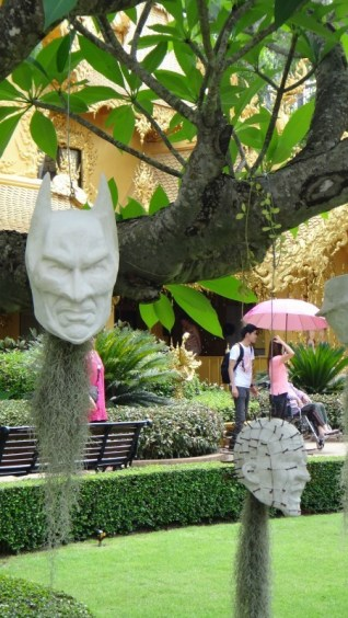 Batman and Hellraiser Pinhead - Wat Rong Khun The White Temple