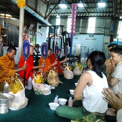 Lanna Muay Thai - Chiang Mai - Monks, Den and Pom