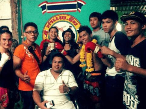 Khem with all of Lanna Muay Thai Around Him