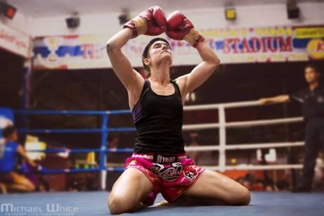 Ram Muay - Muay Thai - Sylvie von Duuglas-Ittu - Chiang Mai, Thapae Stadium - Michael White photographer