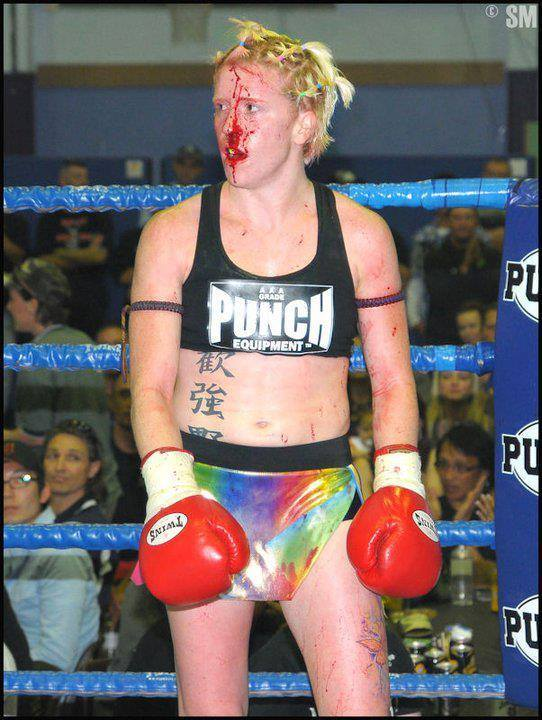 Natasha Sky - Bloodied Face Muay Thai