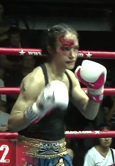 Sylvie von Duuglas-Ittu - Lommanee Yokkao - Women's War Face - Bloodied Face