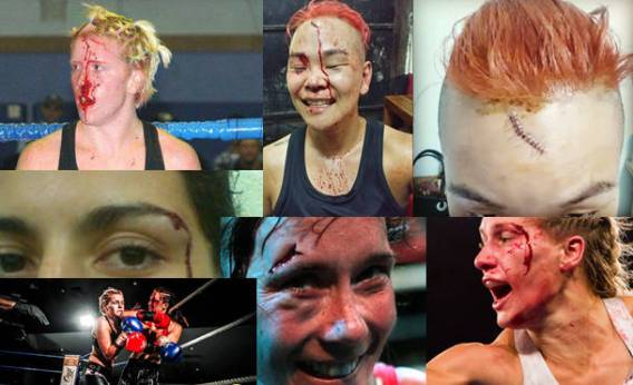 Women's War Face - The Bloodied Female Face-w800