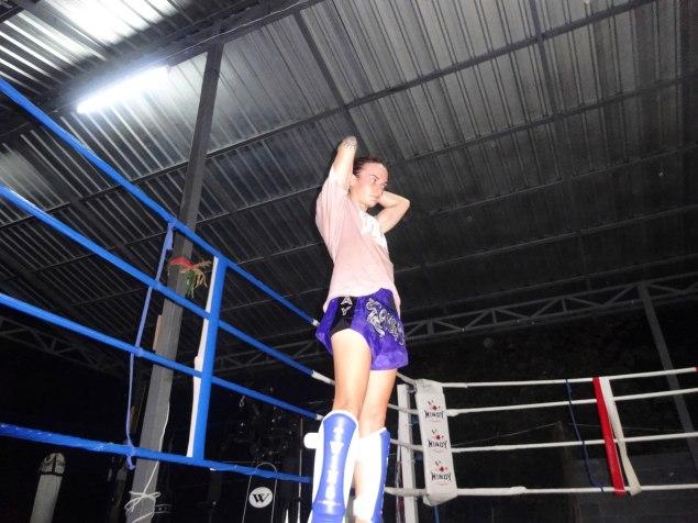 Sylvie von Duuglas-Ittu at O Meekhun Gym 2014 - Clinch