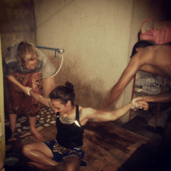 Hot Water and Soap Massage - Giatbundit Gym - Pre Fight Isaan