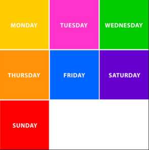 colors of the week
