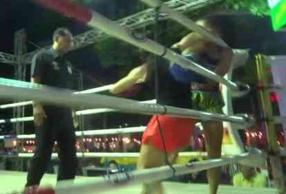 Sylvie - Reverse Elbow - Muay Thai