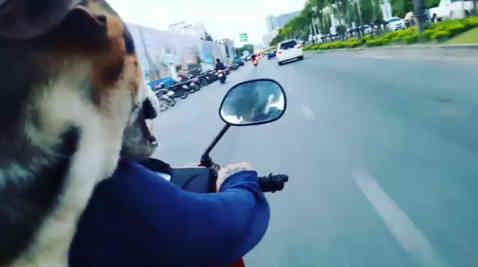 Jaidee and motorbike